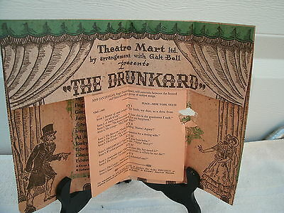 Hollywood CA--1947--The Drunkard - Souvenir Program- Theatre Mart--Original