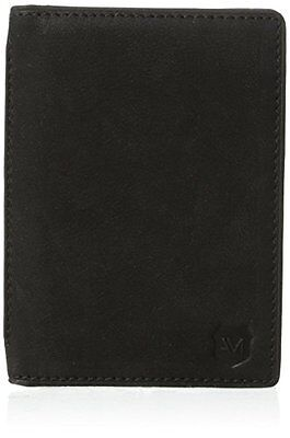 New in Box Andrew Marc Sheridan Folding Credit Card Passport Holder Leather Blk