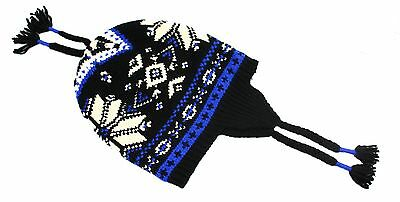 Polo Ralph Lauren NEW Black Blue Mens One-Size Printed Wool Beanie Hat $98 263