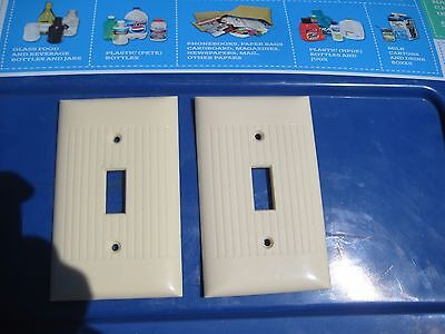Vintage * SIERRA ELECTRIC * 1-Gang Toggle Switch Wall Plate Set of 2