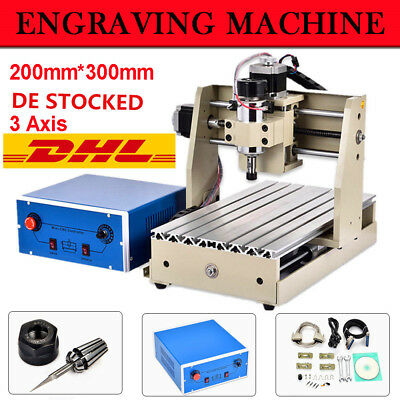 New CNC Router Engraver Milling Machine Engraving Drilling 3 Axis 300W Desktop