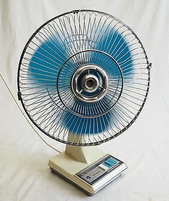 Vintage Airmaster Super Deluxe Fan Retro Funky Working Well