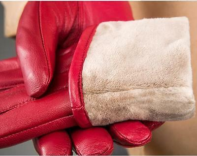 Winter Women Warm Genuine Lambskin Leather Driving Soft Lining Gloves 9 Colors