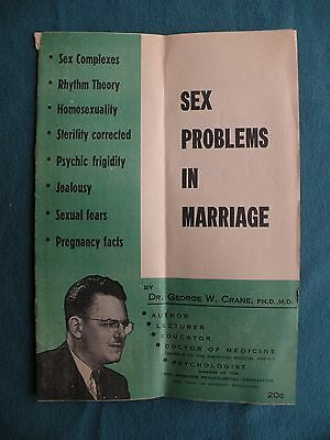 1940s SEX PROBLEMS IN MARRIAGE Brochure Booklet Help Guide