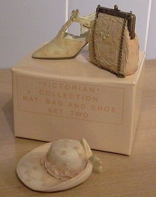 Victorian Collection Peach Hat Bag And Shoe