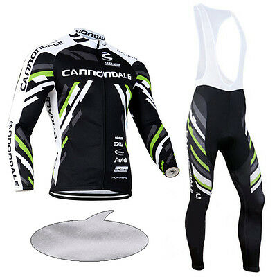 Mens Bike Cycling Fleece Lined Outfits Jersey Bib Pants Kits Jacket Tights Suits