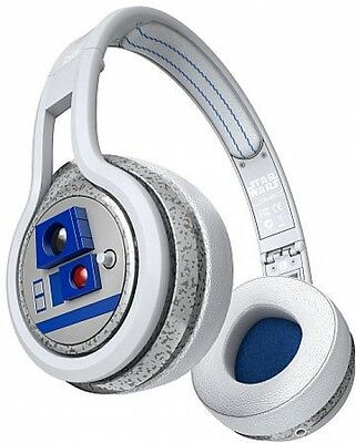 Star Wars R2D2 Headphones SMS Audio R2-D2 On-Ear Wired, NEW w/ Carrying case