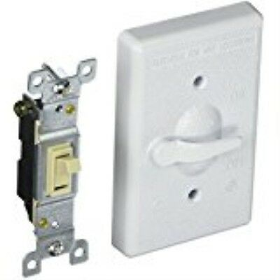 Hubbell-Bell 5121-1 1-Gang Vertical Lever Switch Weatherproof Cover, White