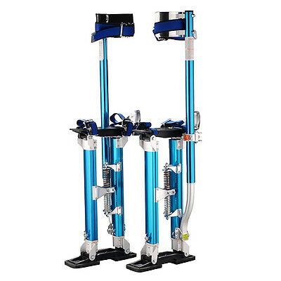 "Professional 18""-30"" Blue Drywall Stilts Tool to Install Sheetrock & Drywall"