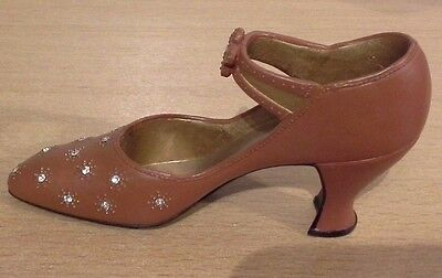 Just The Right Shoe Brown With Beads