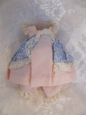 Vintage Ginny doll Tagged Vogue Pink & Blue Floral Dress