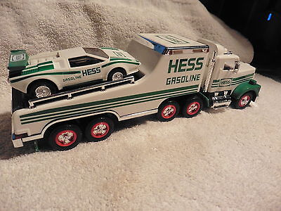 1991 Hess truck and friction motor racer collectable