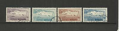 Syrian Arab Republic ~ 1950 Air Mail Part Set Used ~ Port Of Latakia