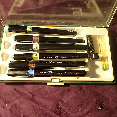 Vintage Faber Castell TG technical drawing pens (6)