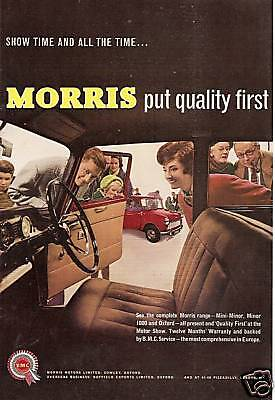 1961 Morris Cowley Range Quality Old Retro Advert