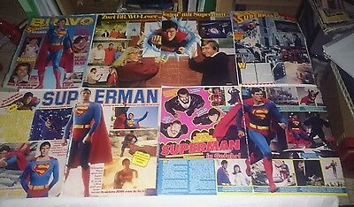 Superman Christopher Reeve Lot Clippings Magazine Very Rare 70' 80' Movie