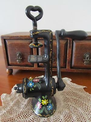 Hand Painted Old Beatrice MEAT MINCER Vintage Kitchenalia Display OOAK