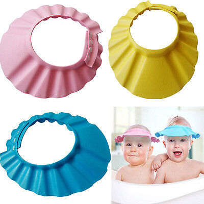 Baby Kids Child Bath Shampoo Cap Hat Hair Washing Shield Protection hot