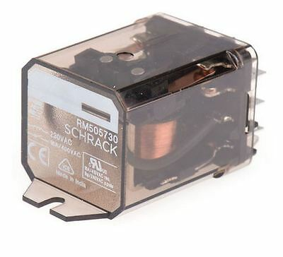DPST-NO Flange Mount Non-Latching Relay Tab, 230V, Schrack RM505730 TE Connect