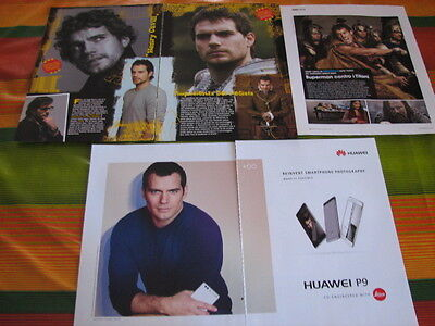 Henry Cavill 5 Italian Clippings Pinup Articles Advert