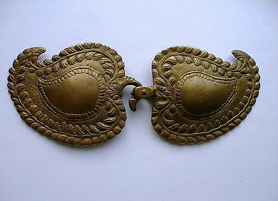 Antique Late 18th c. Handmade Massive (10.76oz.) Bronze Belt Buckle.