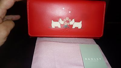 radley love struck large matinee trifold red purse
