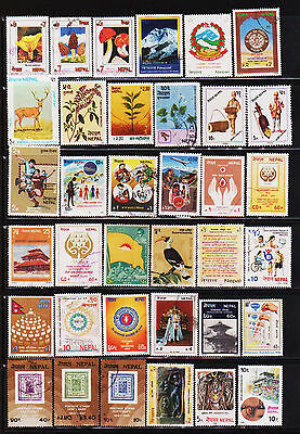 Nepal 198 Different Used Stamps Collection Lot #33