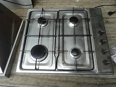 SMEG 4 Burner Gas Cook Top with Electronic Ignititian/stainless/splash back