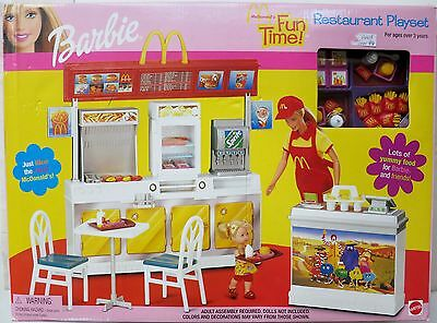 New In Box 2001 Barbie McDonald's Funtime Restaurant Playset