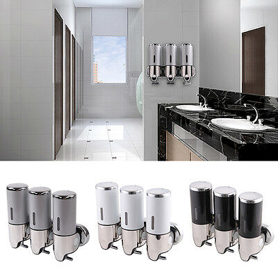 Wall Mounted Soap Dispenser Toilet Shower Gel Shampoo Lotion Conditioner 1500Ml
