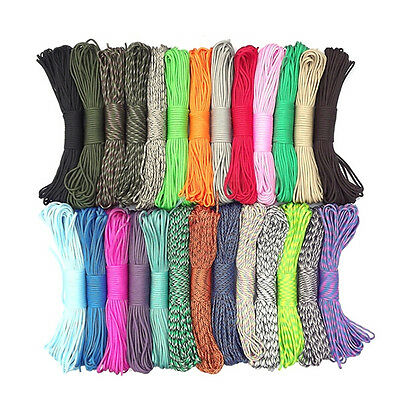 Hot Sell 550 Paracord Parachute Cord Lanyard Mil Spec Type III 7 Strand Core