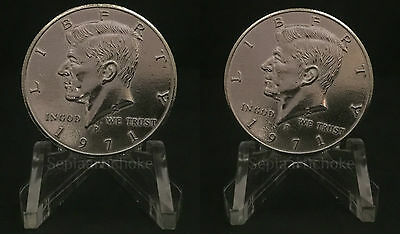 Double Headed Sided KENNEDY HALF DOLLAR 1971 Coin 50c American Unique