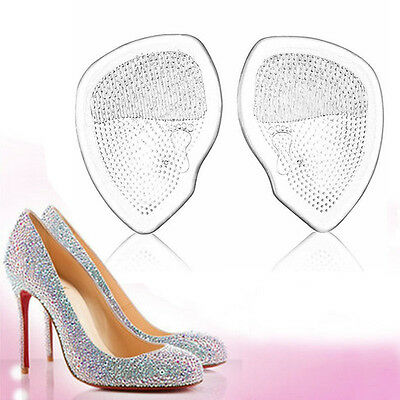 Clear Silicone Gel High Heel Shoe Half Sole Forefoot Pad Comfy Cushion Insoles
