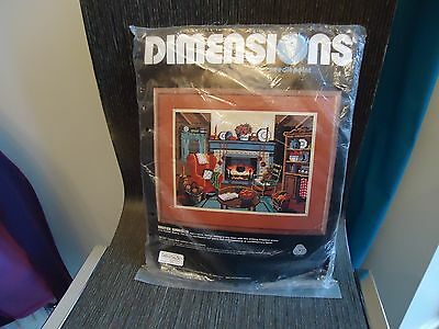 Vintage 1983 Dimension Needlepoint Kit Winter Warmth Designed By Karen Avery