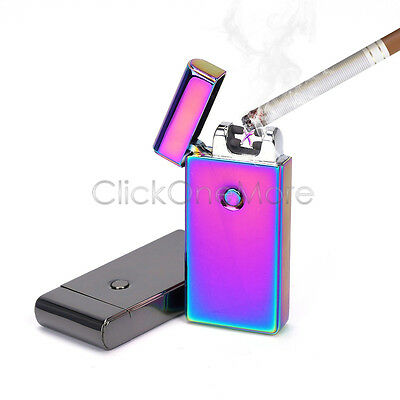 Electric Double ARC Pulse Plasma Lighter Flameless Metal Cigarette USB