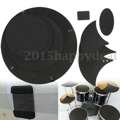10PCS Bass Snare Off Quiet Drums Mute Silencer Drumming Practice Pad Set