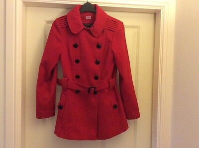 Girls red school coat age 11-12