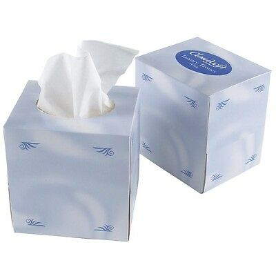 24X Facial Tissues Cube / Commercial Restaurant Takeaway Household Cafe