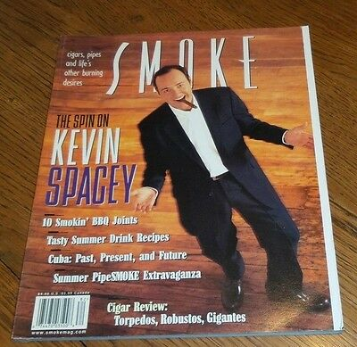 SMOKE MAGAZINE SUMMER 1998 Kevin Spacey, Drink Recipes, BBQ Joints, Torpedos
