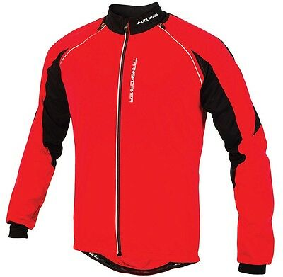 Altura Transformer Windproof Cycling Jacket - Red/Black - Size L
