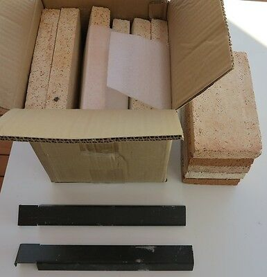 Complete new fire brick set for Regency Renmark combustion wood heater fireplace