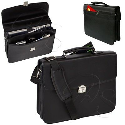 Deluxe Laptoptasche DERMATA 2918P Aktentasche Leder Optik Notebook Henkeltasche