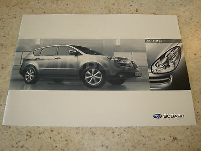 SUBARU B9 TRIBECA UK SALES BROCHURE - c.2006