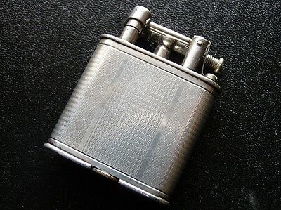 DUNHILL Unique Silver Plated Lighter/Briquet Very Good Condition