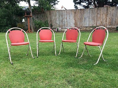 Vintage, retro, antique children's chairs.  Stack-a-bye (Sebel)