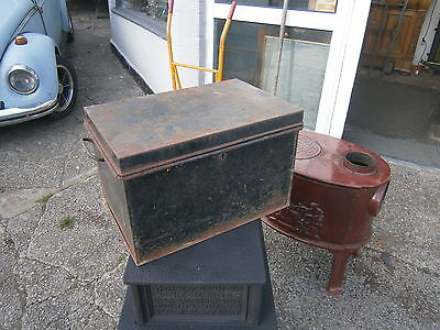 Metal Deed Box Vintage Retro Kitsch Deed Box Storage Chest Strong Box In Yeovil