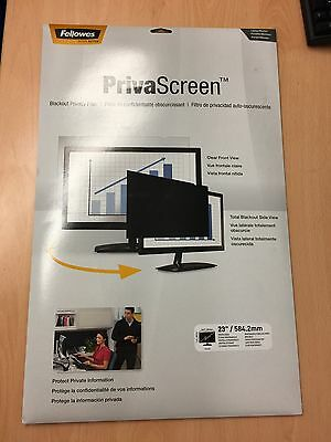 """Fellowes   23 Inch  23"""" / 584.2mm Widescreen Privascreen Blackout Privacy Filter"""