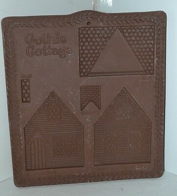 Vintage Gingerbread Hartstone House Maker Stone Pottery Cookie Mold