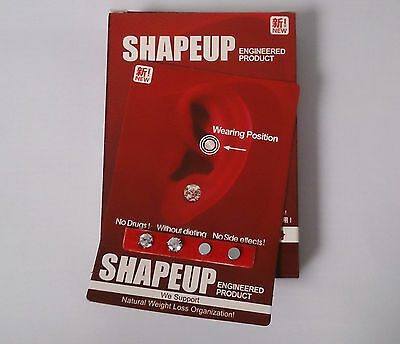 SHAPE UP Magnetic EARRINGS WEIGHT LOSS & HEALING No More Diets or SLIMMING PILLS