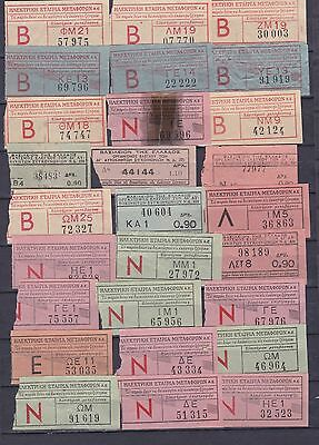 Greece. Bus And Train Tickets .old.